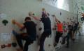 Die Klassen 7 im DAV-Kletterzentrum