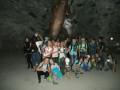 Klassenfoto mit Dinosaurier