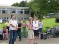 Die Referendare Herr Essenbreis, Frau Röhm und Frau Seifried eröffnen die Realschulhocketse und führen durch das Programm