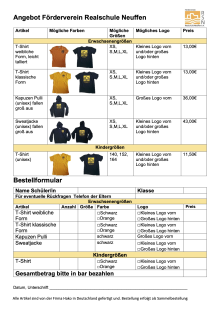 2021 Förderverein Bestellung_Shirts